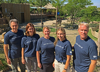 Cincinnati Zoo & Botanical Garden staff wearing their Academy t-shirts.